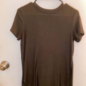 Short Sleeve Olive Green Top